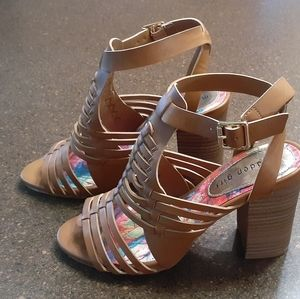 Madden Girl Remiie Heeled Strappy Sandals